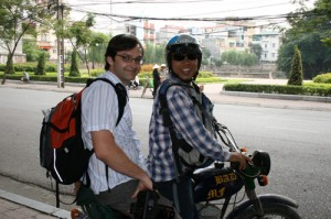 visit around Hanoi by motorbike