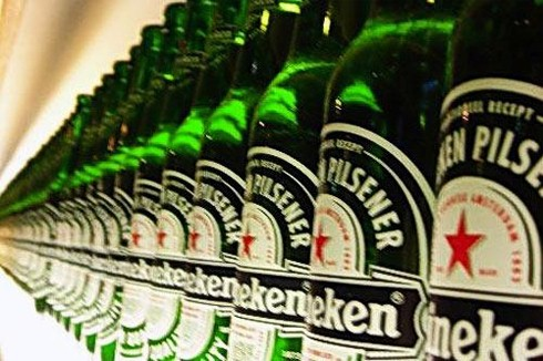 heniken -  a famousbranch beer in amsterdam